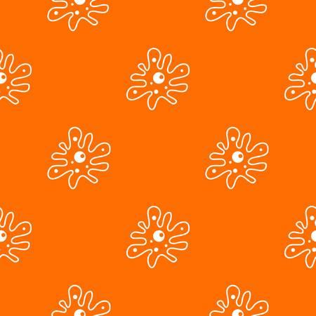 ameba: Amoeba pattern repeat seamless in orange color for any design. Vector geometric illustration Vectores