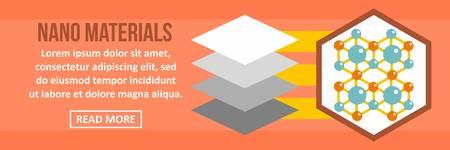 Nano materials banner horizontal concept. Flat illustration of nano materials banner horizontal vector concept for web design Illustration
