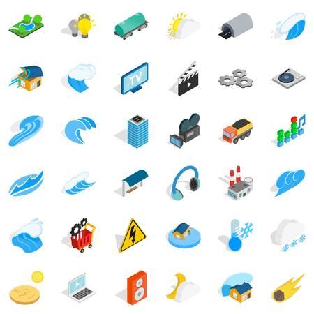 Vigor icons set, isometric style