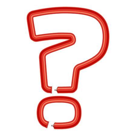Sign question plastic tube icon. Cartoon illustration of sign question plastic tube vector icon for web
