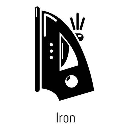 Iron icon. Simple illustration of iron vector icon for web Illustration