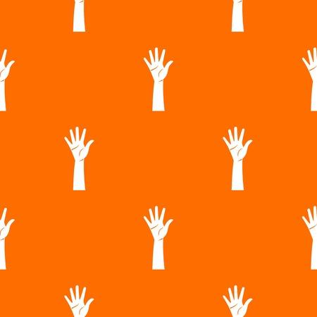 Hand pattern seamless