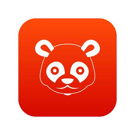 Head of panda icon digital red for any design isolated on white vector illustration