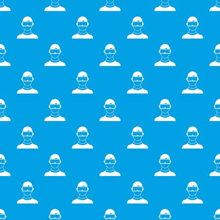 Virtual 3d reality goggles pattern seamless blue Illustration