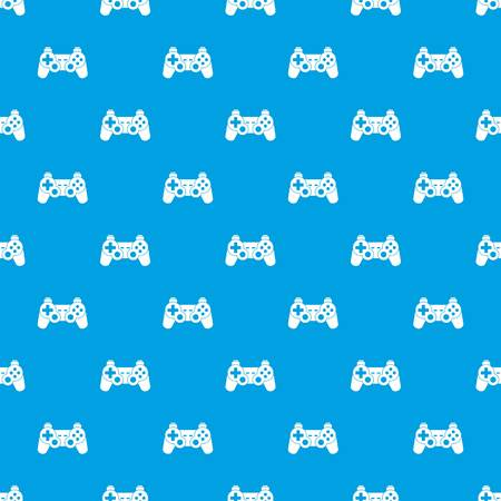 Game controller pattern seamless blue