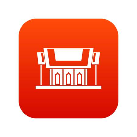 in monastery: Thailand Temple icon digital red for any design isolated on white vector illustration Illustration