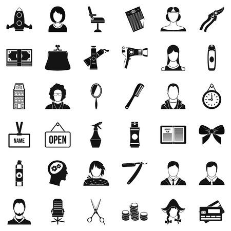 icônes de miroir . simple style de 36 icônes vectorielles de miroir pour le web isolé sur fond blanc