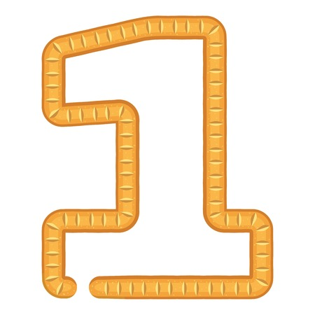 Number one bread icon. Cartoon illustration of number one bread vector icon for web