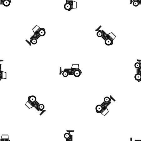 Skid steer loader pattern seamless black