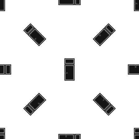 casement: Wooden window pattern repeat seamless in black color for any design. Vector geometric illustration