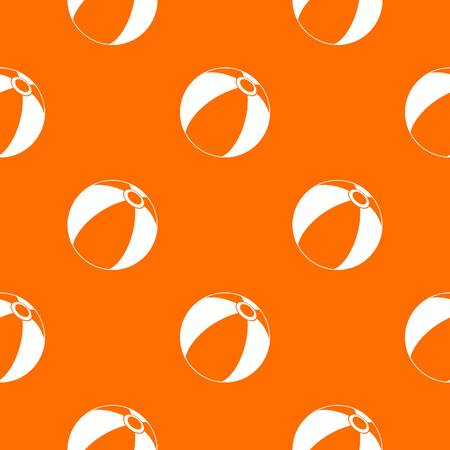 Beach ball pattern repeat seamless in orange color for any design. Vector geometric illustration