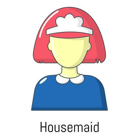 Housemaid icon. Cartoon illustration of housemaid vector icon for web Illustration