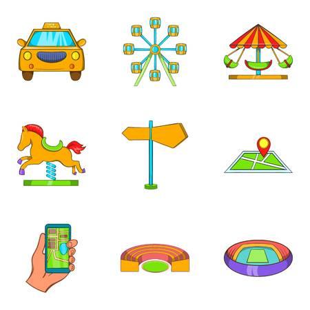 Ensemble d'icônes de zone confortable. Jeu de dessin animé de 9 icônes vectorielles zone confortable pour le web isolé sur fond blanc Banque d'images - 87746855