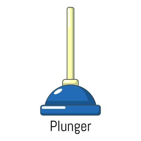 antiseptic: Plunger icon. Cartoon illustration of plunger vector icon for web Illustration