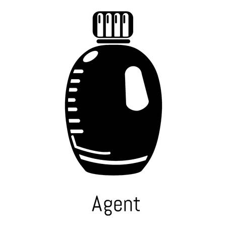 Agent bottle icon. Simple illustration of agent bottle vector icon for web Illustration