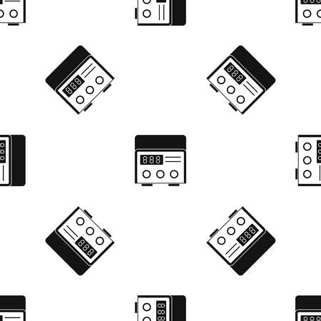Professional tattoo machine pattern repeat seamless in black color for any design. Vector geometric illustration 版權商用圖片 - 87747492