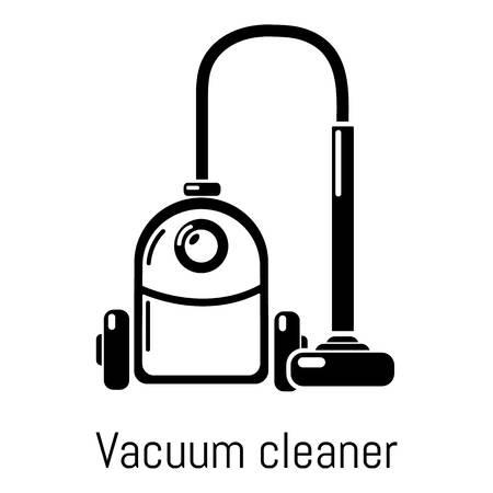 Vacuum cleaner icon, simple black style