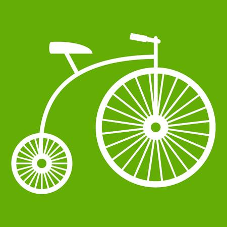 Penny-farthing icon green