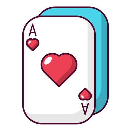 Poker cards icon. Cartoon illustration of poker cards vector icon for web
