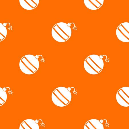 Bomb pattern repeat seamless in orange color for any design. Vector geometric illustration Illustration