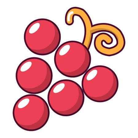 Grapes icon. Cartoon illustration of grapes vector icon for web Illustration