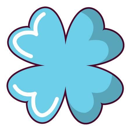 clover leaf shape: Quatrefoil leaf icon. Cartoon illustration of quatrefoil leaf vector icon for web