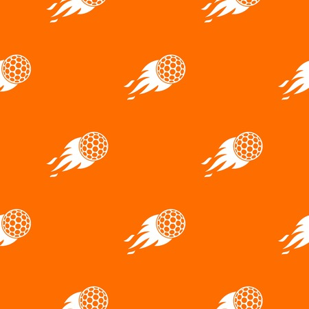 Burning golf ball pattern seamless