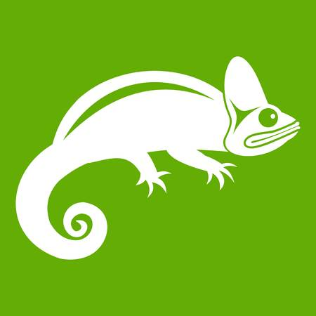 Chameleon icon green