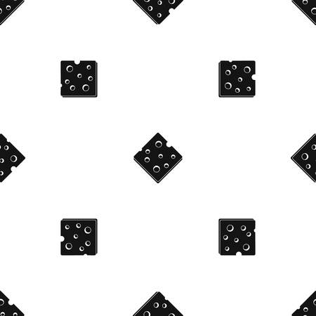 Cheese fresh block pattern seamless black