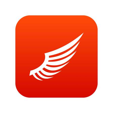 Wing icon digital red