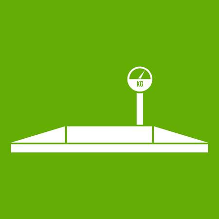 Parking scales icon green Illustration