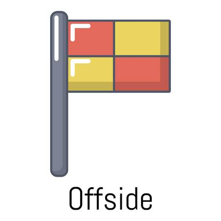 Offside icon. Cartoon illustration of offside vector icon for web