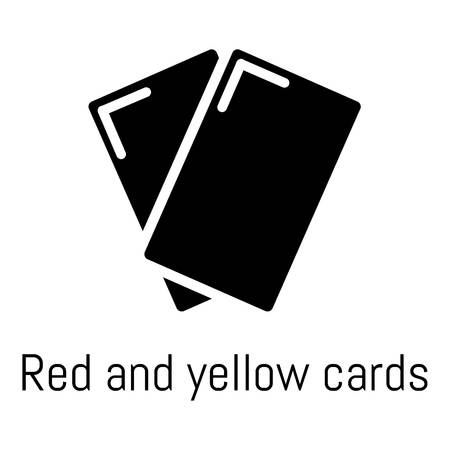 Red yellow card icon, simple black style