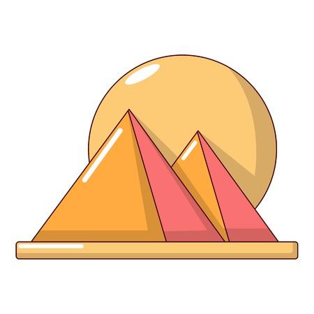 Pyramid egypt icon, cartoon style