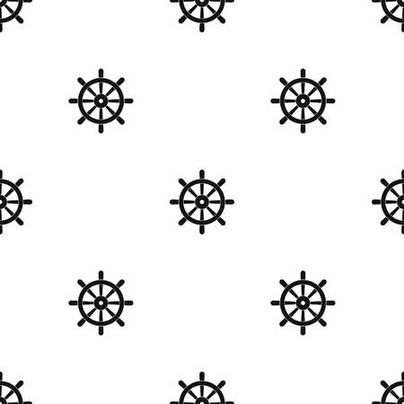 Wooden ship wheel pattern seamless black Stock Vector - 88082375