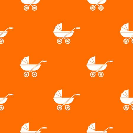 Baby carriage pattern seamless