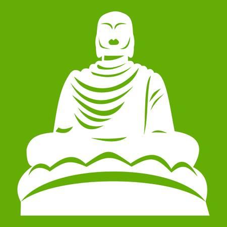 Buddha statue icon green