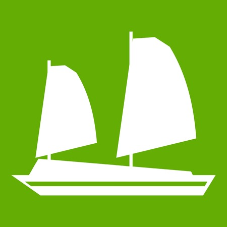 Vietnamese junk boat icon Illustration