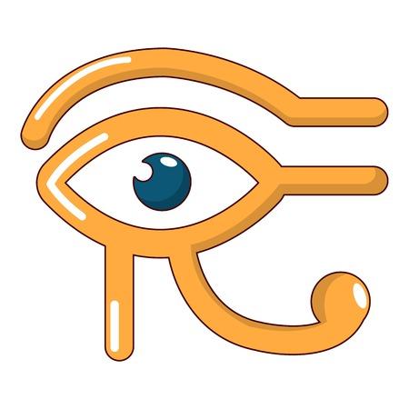 ojo de horus: Icono de ojo horus, estilo de dibujos animados Vectores