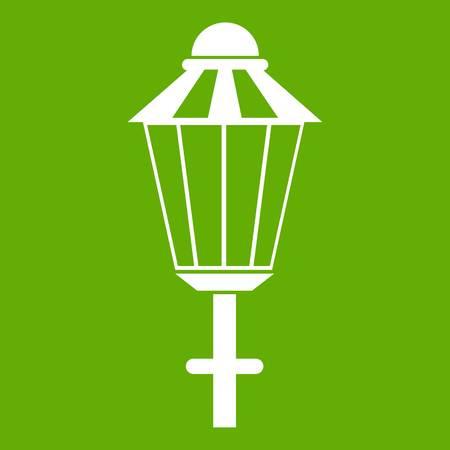 Street lamp icon green Illustration