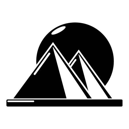 Pyramid egypt icon, simple black style