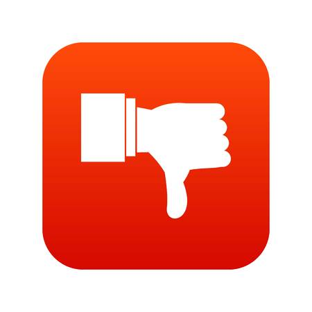 disapprove: Thumb down gesture icon digital red