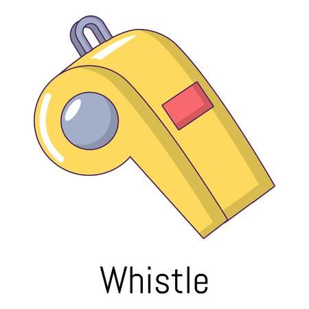 Icono de silbato. Ilustración de dibujos animados de icono de vector de silbido para web