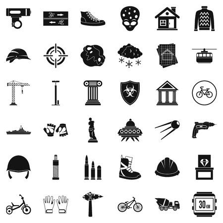 Truck icons set, simple style Banco de Imagens - 87938404