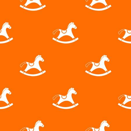 Rocking horse pattern seamless