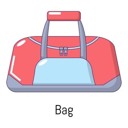 Bag sport icon, cartoon style Illustration