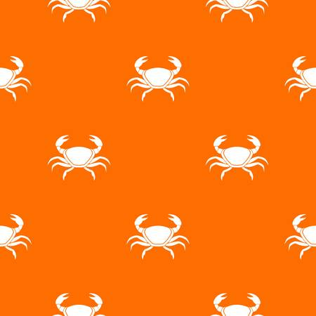 Fresh crab pattern repeat seamless in orange color for any design. Vector geometric illustration Illustration