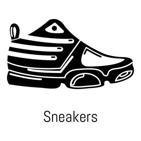Turnschuh-Symbol. Einfache Illustration der Turnschuhvektorikone für Netz