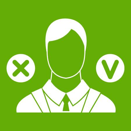 Selection icon green