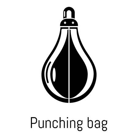 Punching bag icon. Simple illustration of punching bag vector icon for web